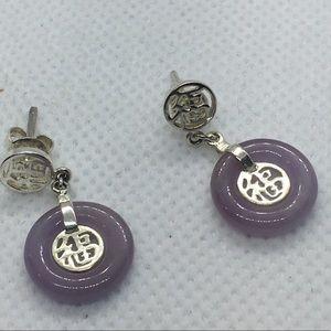 4 for $12: Simple Lavender Earrings
